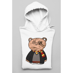 Honesteez LLC Hoodie S / White / Pullover Hoodie (As Shown) Harry Potter Themed Bear Unisex Graphic Hoodie
