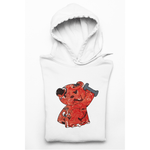 Honesteez LLC Hoodie S / White / Pullover Hoodie (As Shown) Red Workout Bear Unisex Graphic Hoodie