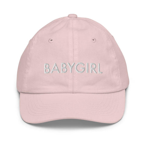 Honesteez LLC Kids Accessory Light Pink BabyGirl Graphic Embroidered Youth baseball hat