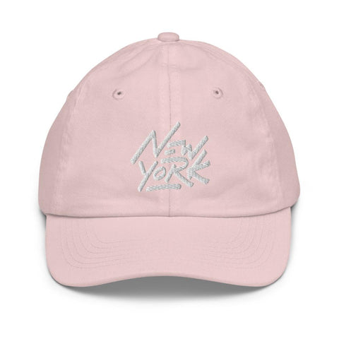 Honesteez LLC Kids Accessory Light Pink New York Graphic Embroidered Youth baseball hat