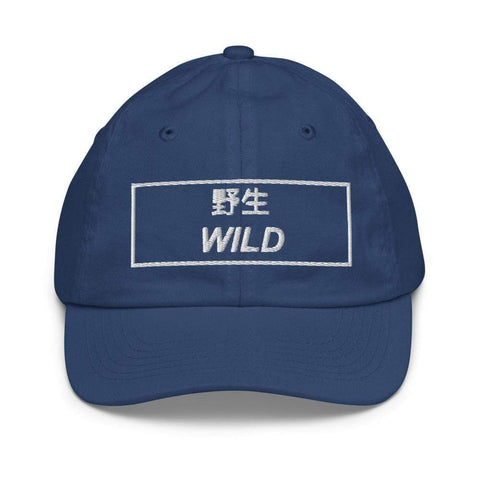 Honesteez LLC Kids Accessory Royal Wild Japanese Kanji Embroidered Youth Dad hat