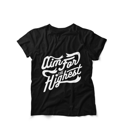 Honesteez LLC T-Shirt Black / S Aim for the Highest Unisex Graphic Tee
