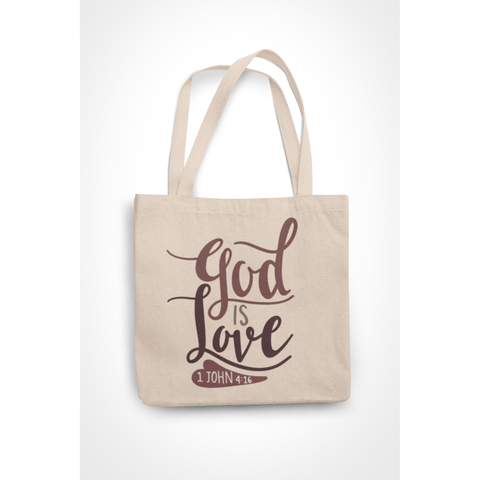 Honesteez LLC Tote Bag God is Love 1 John 4:16 6 oz. Canvas Tote Bag