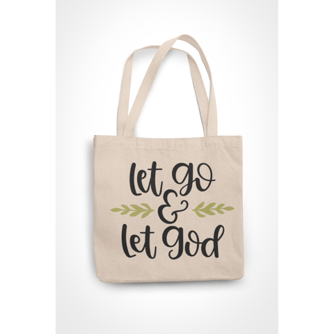 Honesteez LLC Tote Bag Let Go & Let God 6 oz. Canvas Tote Bag