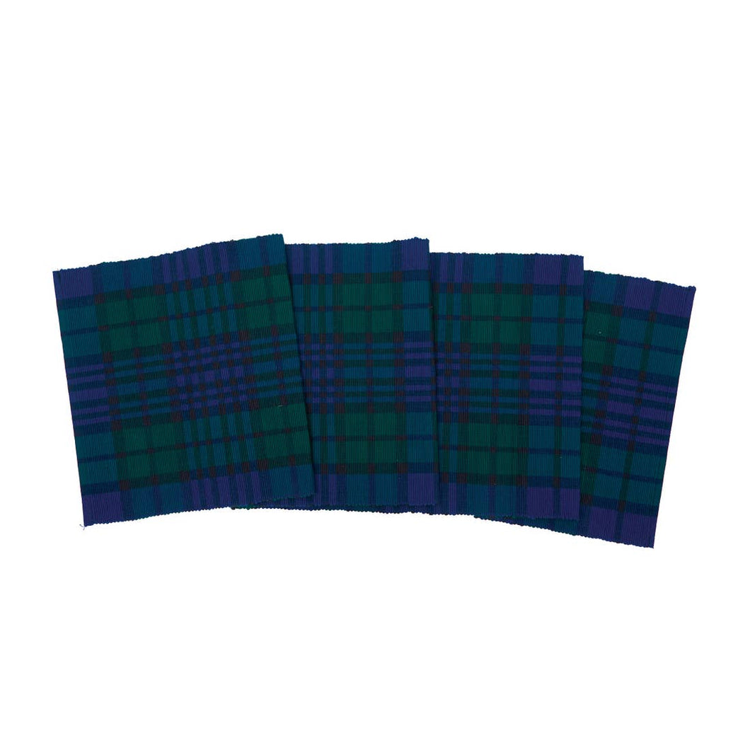 Plaid Woven Table Runner - Black Watch