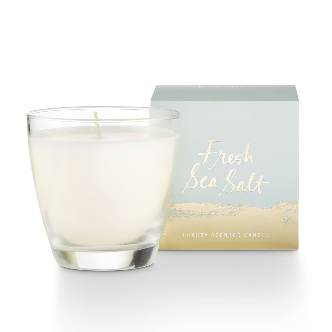 Small Boxed Glass Candle - Fresh Sea Salt
