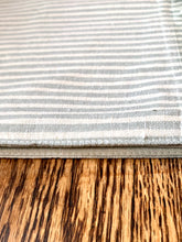 Load image into Gallery viewer, Blue Ticking Stripe Table Runner