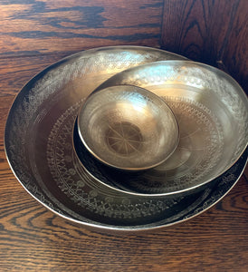 Etched Serving Bowls (set of 3)