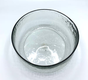 Textured Glass Serving Bowl