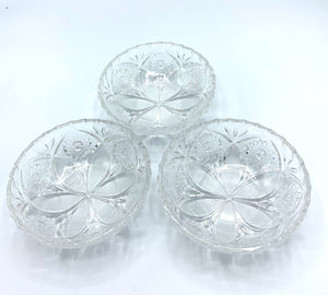 Small Glass Bowls (set of 3) (Vintage)