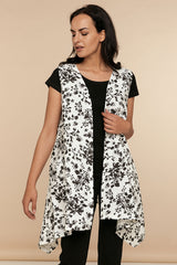 Persian Vest - Black and White Floral - CHIC & SIMPLE