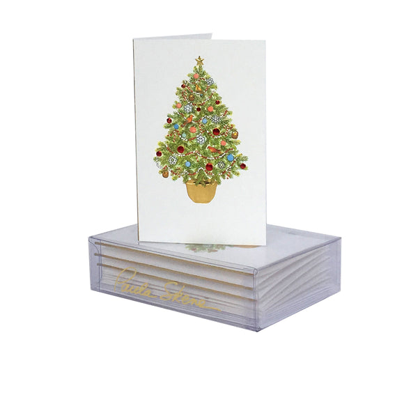 Tree in Pot on White Enclosure Cards