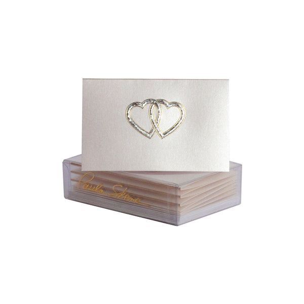 Interlocking Hearts Enclosure Cards