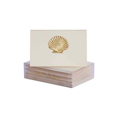 Scallop Shell Enclosure Cards