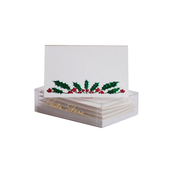 Holly Garland Enclosure Cards