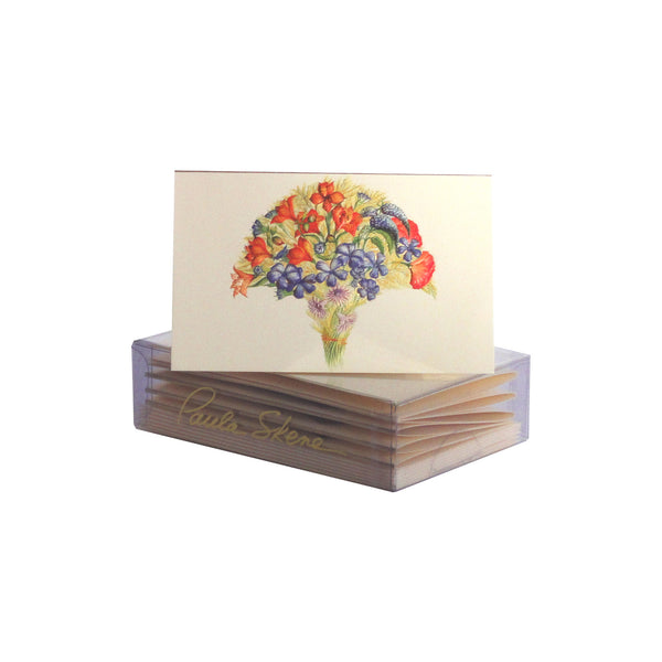 Orange & Blue Flowers Enclosure Cards