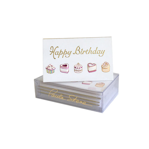 Petite Fours Birthday Enclosure Cards