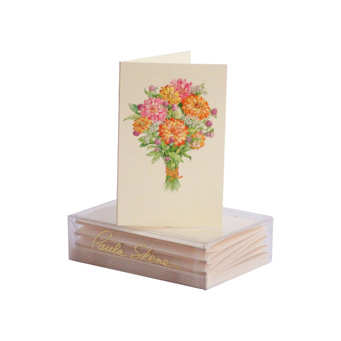 Flower Bouquet Enclosure Cards
