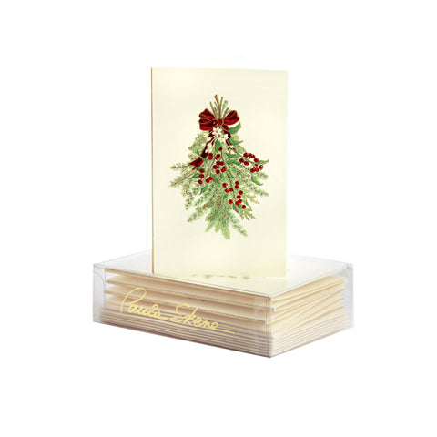 Holiday Greens Enclosure Cards