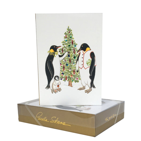 Penguins Decorating Tree
