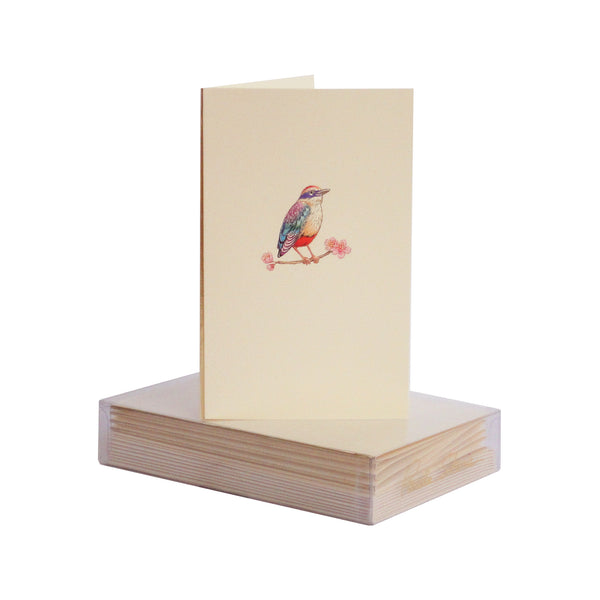 Bird on Cherry Blossom Boxed Mini Note