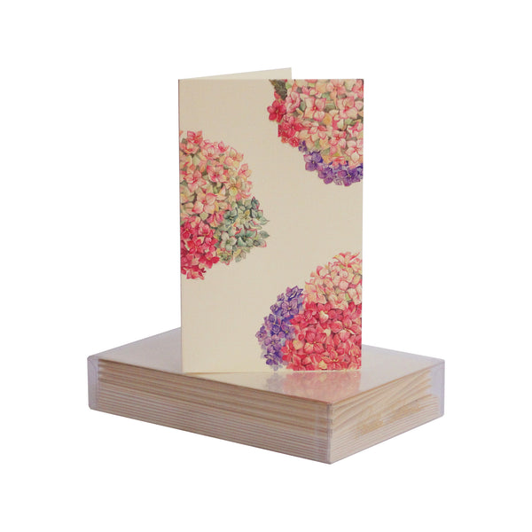 Hydrangea Pattern Boxed Mini Note