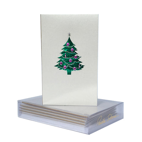 Tree With Ornaments Boxed Mini Note