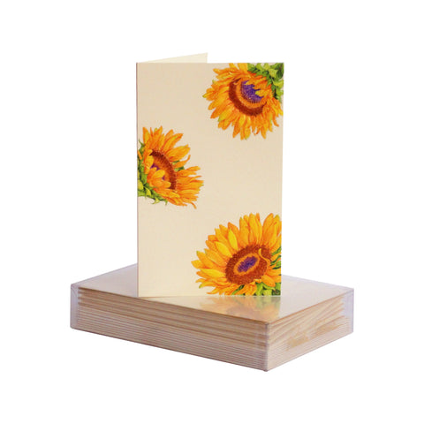 Sunflower Pattern Boxed Mini Note