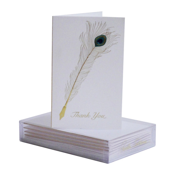 Peacock Quill Boxed Mini Note