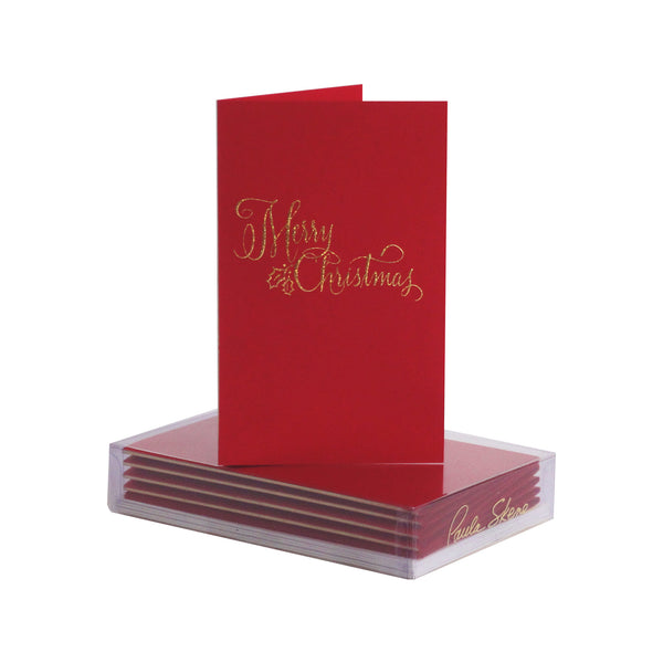 Merry Christmas Calligraphy Boxed Mini Note