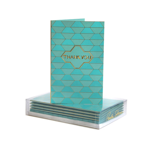 Geometric Thank You Boxed Mini Note