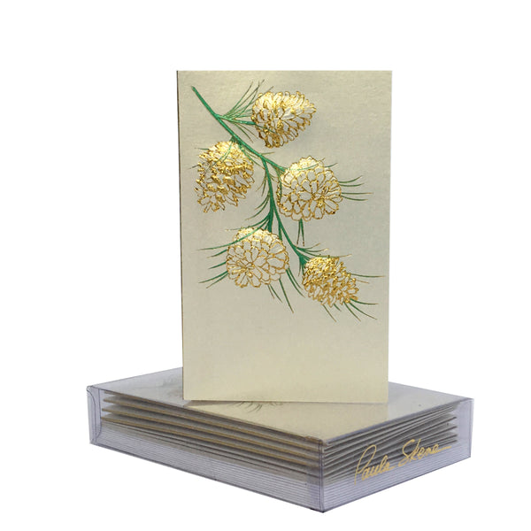 Pine Cone Branch Boxed Mini Note