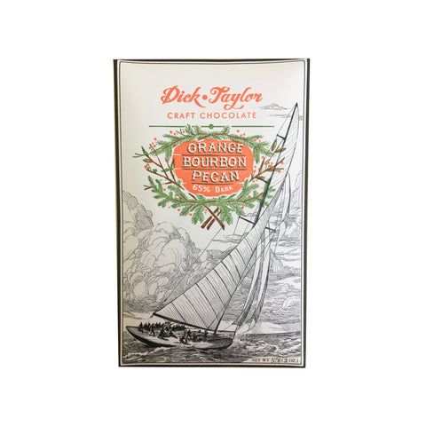 Dick Taylor Chocolate Bar - Orange Bourbon Pecan