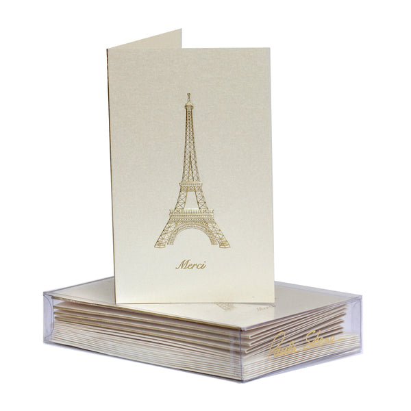 Eiffel Tower Merci Boxed Mini Note