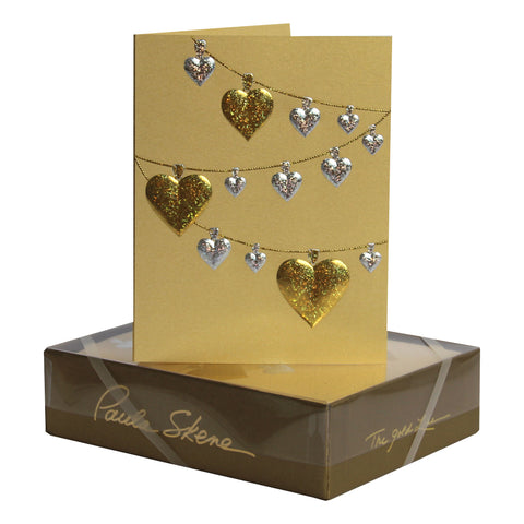 Heart Garland on Gold
