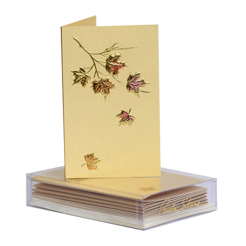 Maple Leaf Cluster Boxed Mini Note