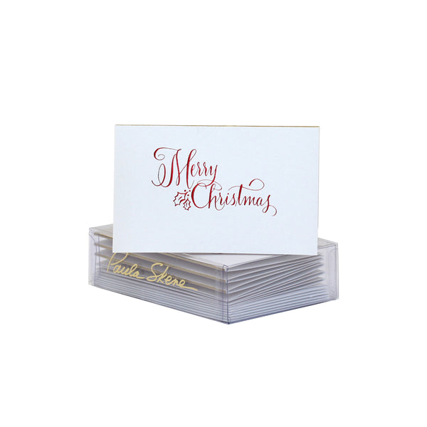 Merry Christmas Calligraphy Enclosure Card