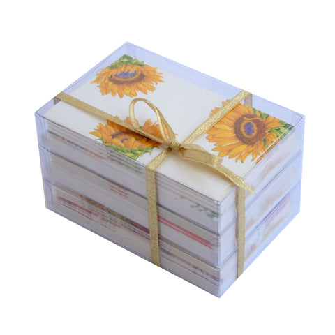 Flower Pattern - Gift Trio of Boxed Mini Notes