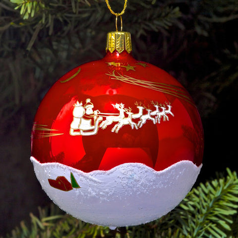 Santa Ornament - Red