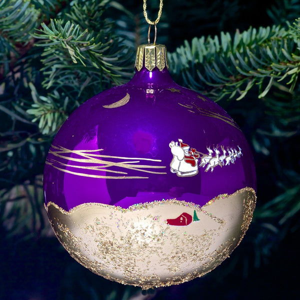 Santa Ornament - Purple