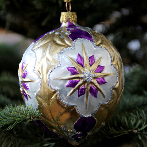 Holly Ornament -Purple
