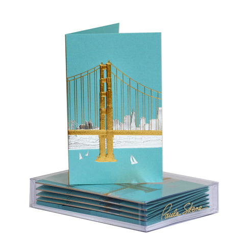 San Francisco Skyline Boxed Mini Note