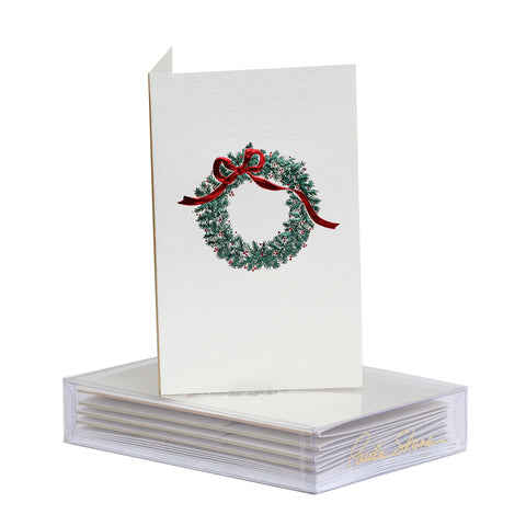Wreath With Bow Boxed Mini Note