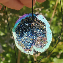 Load image into Gallery viewer, Titanium Aura Geode Pendant