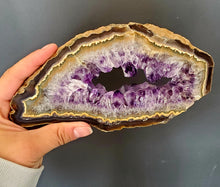 Load image into Gallery viewer, Amethyst Geode Slice Very Unique Color