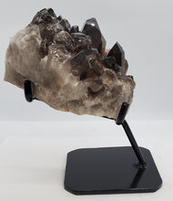 Load image into Gallery viewer, Multi-Terminated Points Smokey Quartz on custom stand