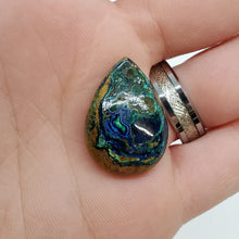 Load image into Gallery viewer, Azurite Malachite Tear Drop Cabochon