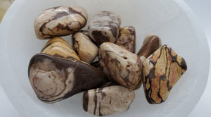Tumbled Brown Zebra Jasper