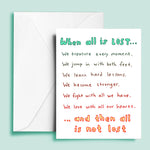 All is Lost Greeting Card