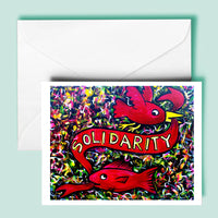 Solidarity Bird/Fish Greeting Card